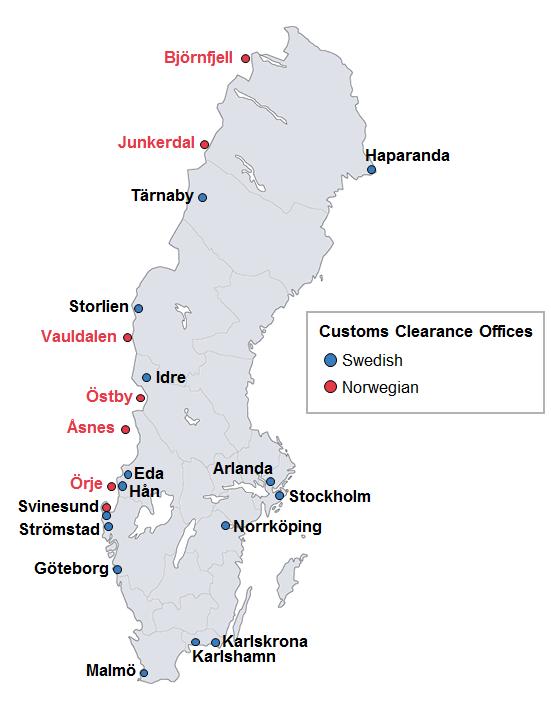 Customs clearance offices - Tullverket